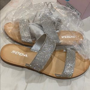 Soda Blinged out sandals